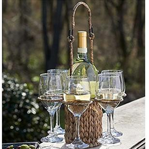 Woven Wine Tote