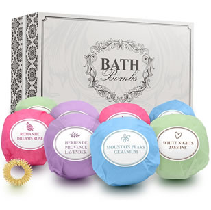 fizzy bath bombs for your mom