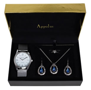 matching watch and necklace set
