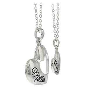 best mom ever mother daughter necklace
