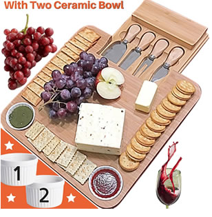 best mom gift ideas Bamboo Cheese Board