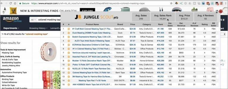 Jungle Scout Chrome Extension