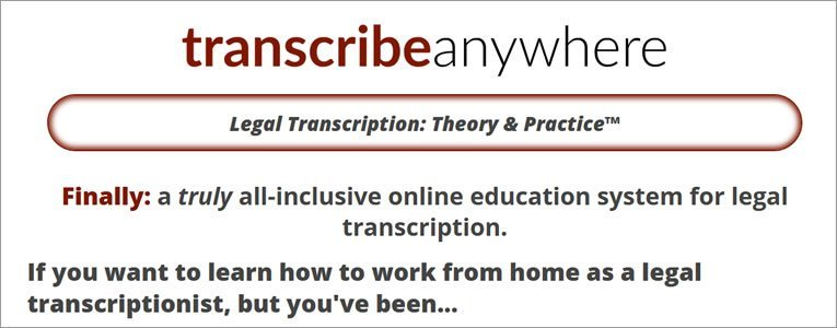 Legal Transcription Course